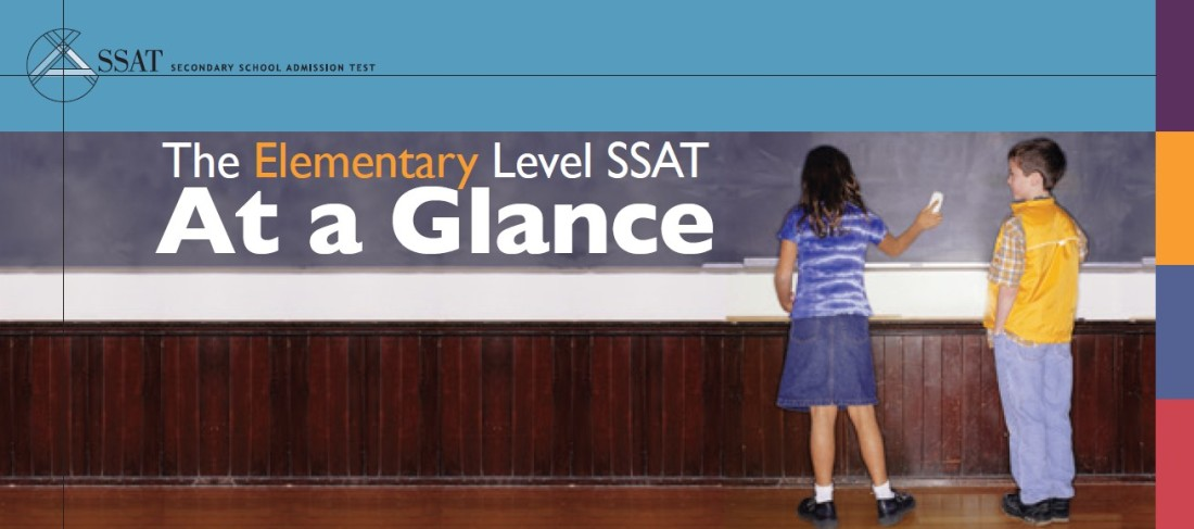 Elementary SSAT AT a Glance