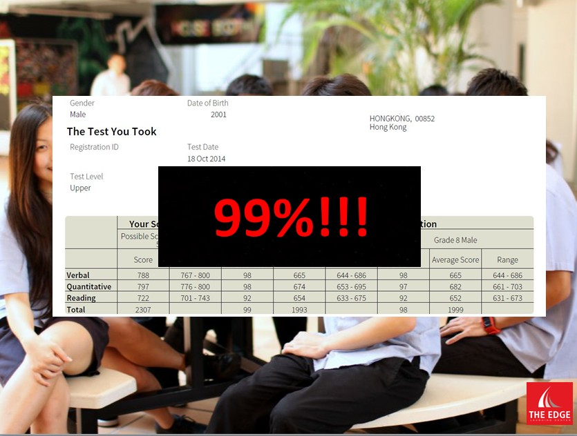 99% Percentile on the SSAT