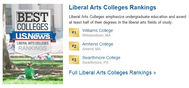 Top 3 Liberal Arts Colleges