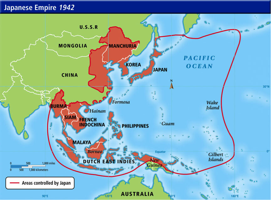 Japanese Empire 1942 history