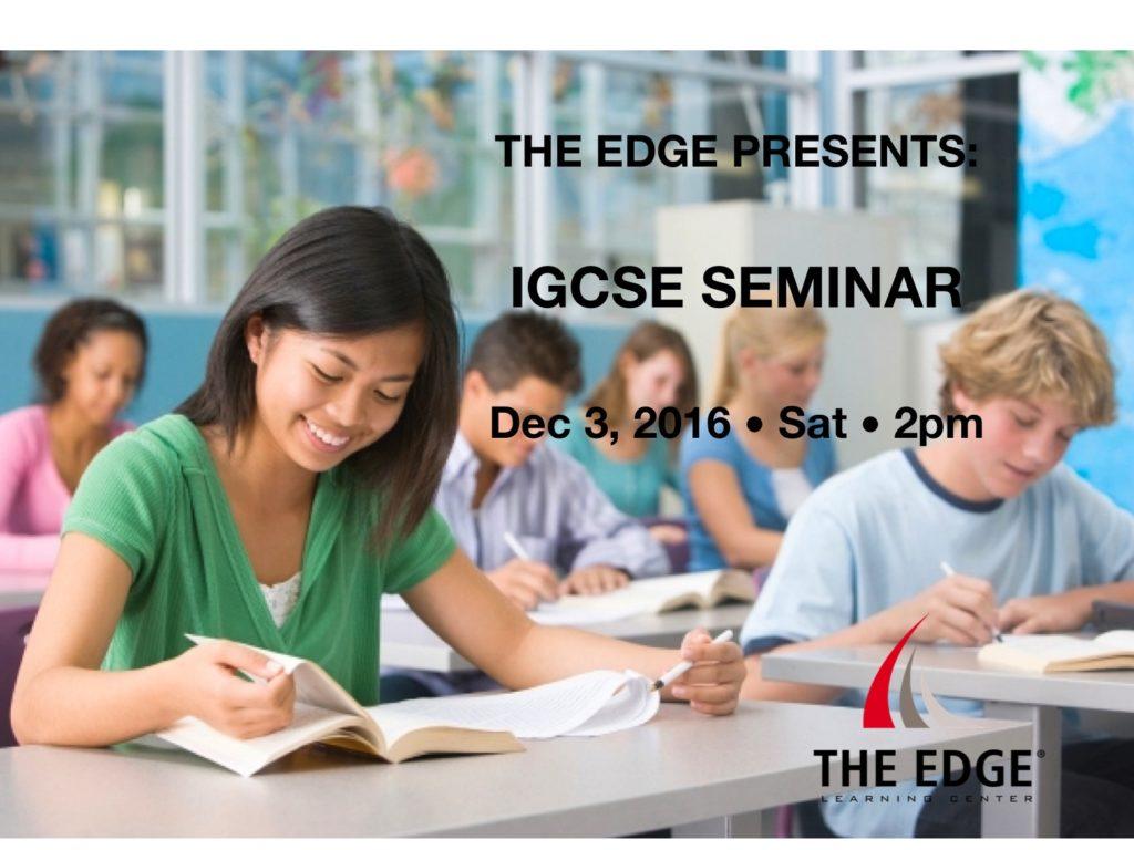 IGCSE seminar