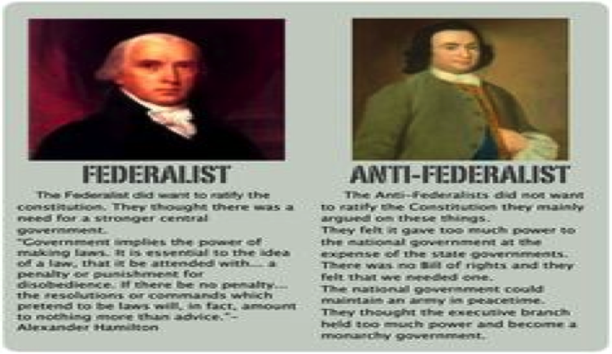 the federalists verses the anti federalists over ratification of the constitution Federalist/anti-federalist debate over the constitution]  and anti-federalists alike is  bible law vs the united states constitution,.
