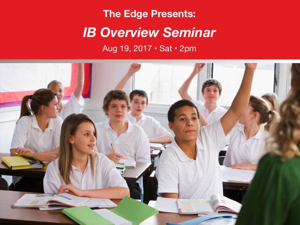 IB Overview Seminar