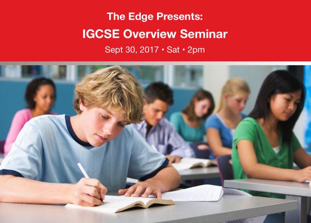IGCSE Overview Seminar