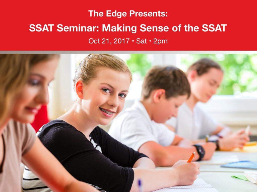 SSAT Seminar
