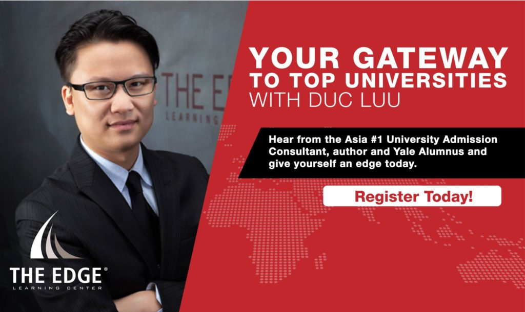 Singapore Seminar: Your Gateway To Top Universities With Duc Luu