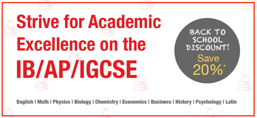 Strive for Academic Excellence on the IB/AP/IGCSE