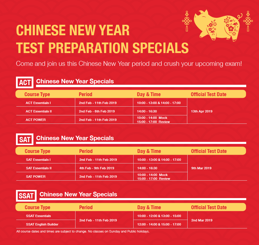 ACT SAT Test Preparation CNY