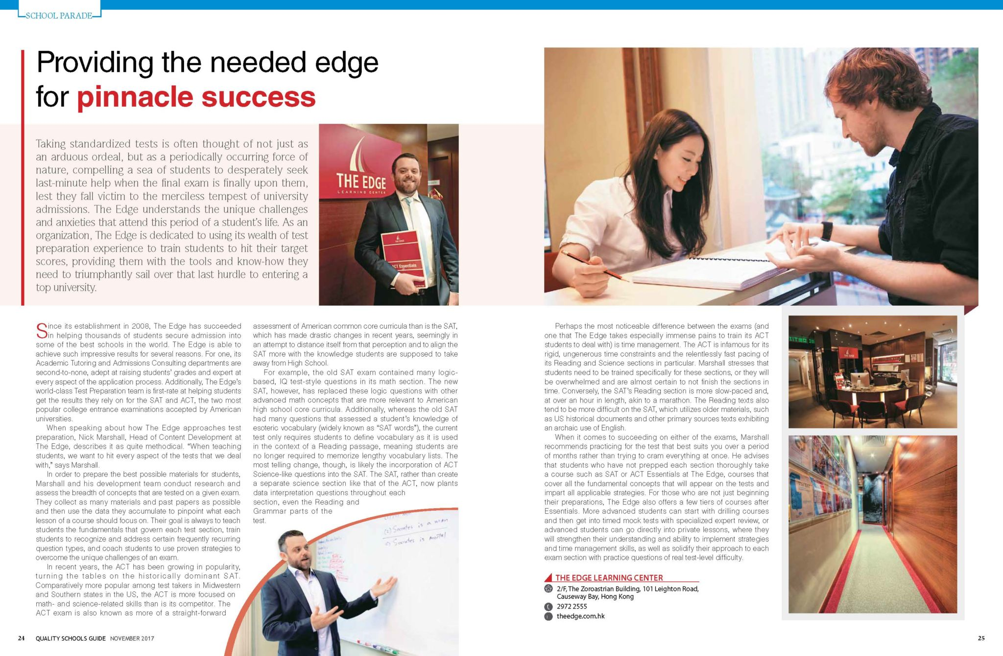 Providing The Needed Edge For Pinnacle Success