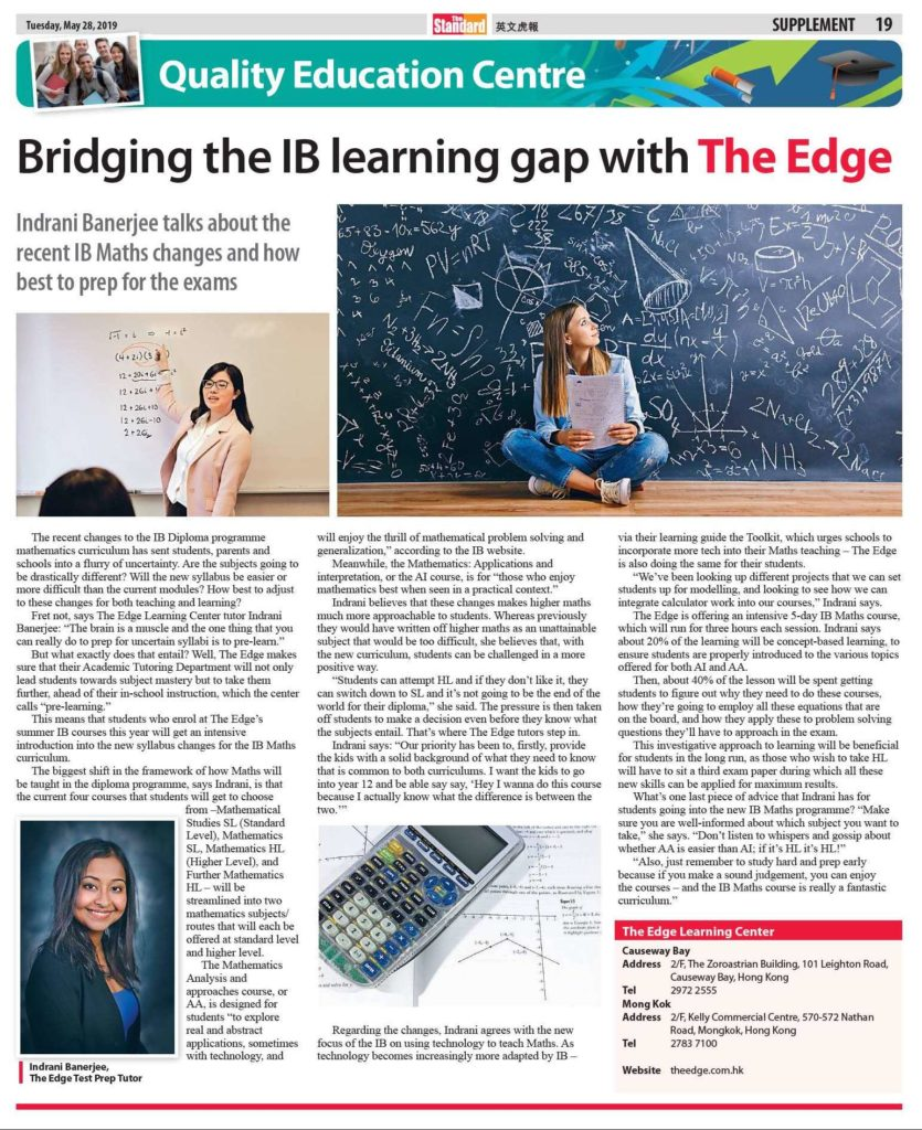 Bridging the IB learning gap with The Edge