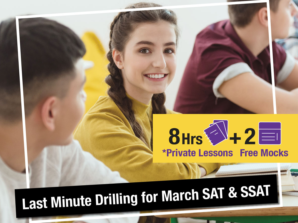 SAT SSAT Last Min Exam Drilling
