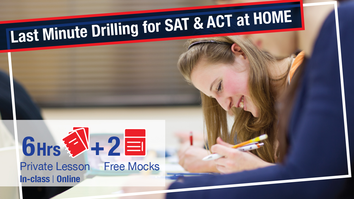 LAst Minute Drilling for SAT and ACT at Home