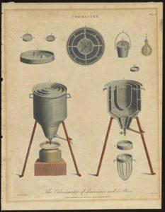 Design of the calorimeter used in Lavoisier's experiment.