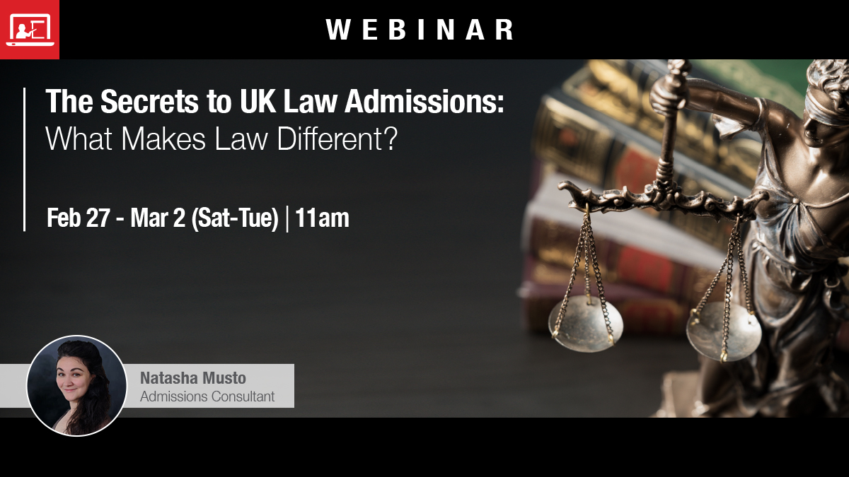 Webinar: The Secrets to UK Law nnApplications: What Makes Law Different?
