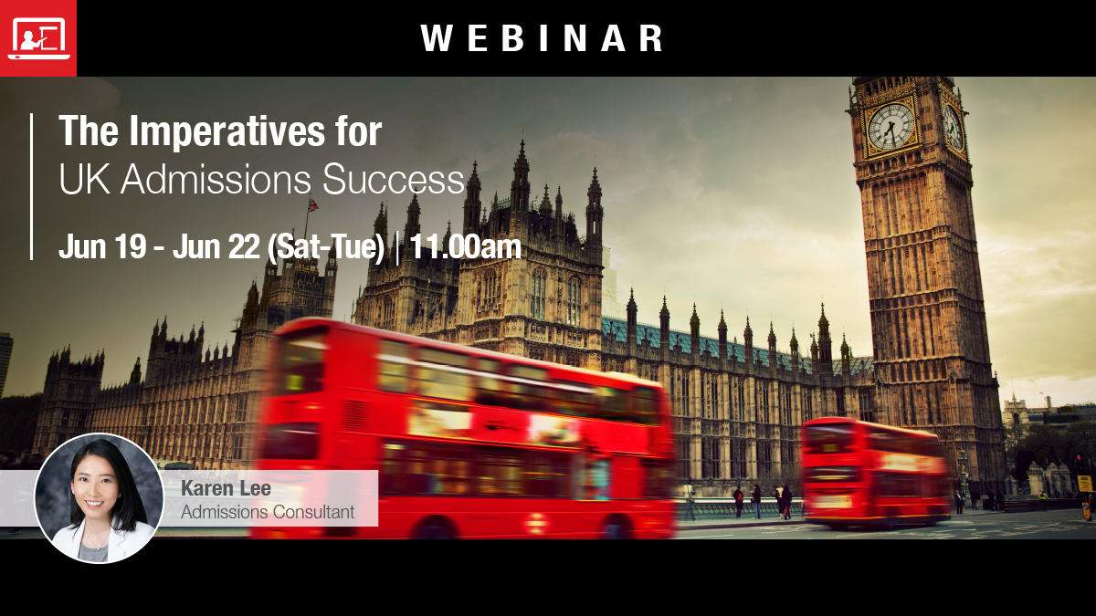 Webinar: The Imperatives for UK Admissions Success